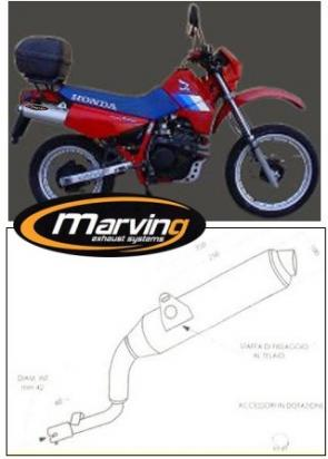 Picture of Marving Honda XL 600 LM / RM Silencer - AMACAL Line - Chrome & Aluminium