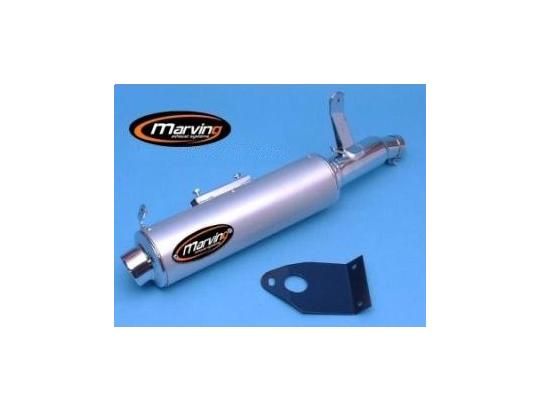 Picture of Marving Honda XRV 650 Africa Twin 88 Silencers - AMACAL Line - Chrome & Aluminium