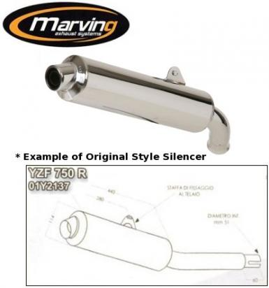 Picture of Marving Yamaha YZF 750 R Silencer - Original Style - Chrome