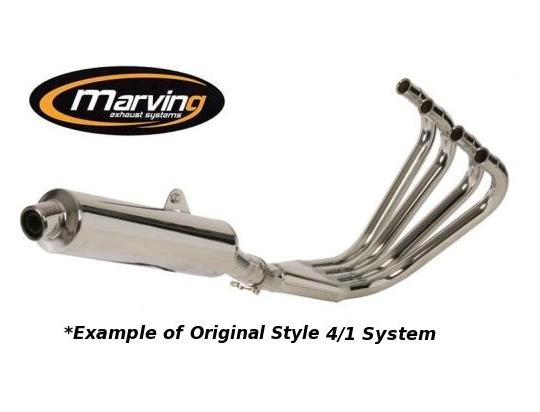 Picture of Marving Yamaha FJ 1200 88-89 Complete Exhaust - Original Style 4/1 - Black