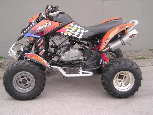 Picture of CAN AM DS 650 X (3B7A/B) 07 Marving Quad/ATV Oval Silencer