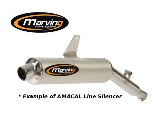 Picture of Marving Kawasaki KLR250 Silencer - AMACAL Line - Chrome & Aluminium