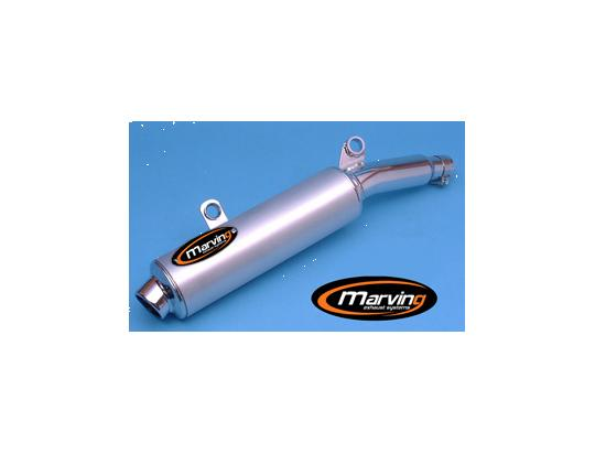Picture of Marving Suzuki DR 650 R 92 Silencer - AMACAL Line - Chrome & Aluminium