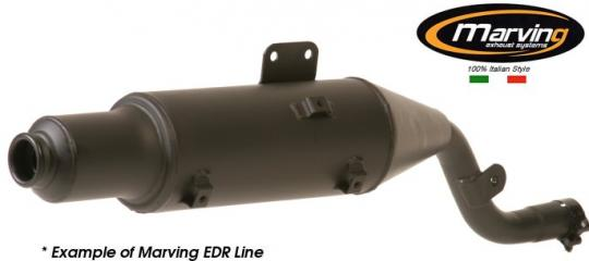 Picture of Marving Honda XL 500 R Silencer - EDR Line - Matt Black