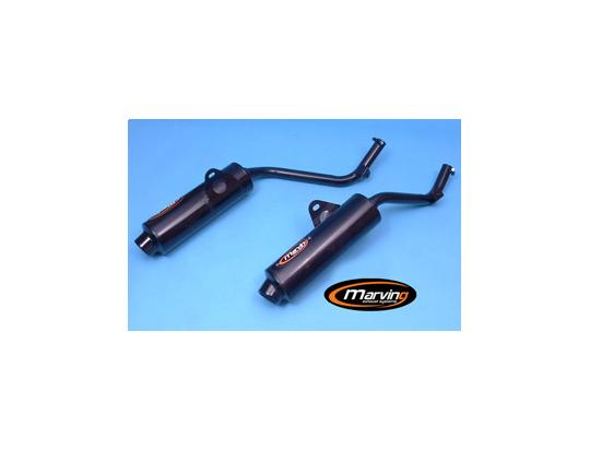 Picture of Marving Honda NX650 Dominator 95 Silencers - EDR Line - Black