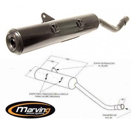 Picture of Marving E.D.R Line Silencer - Black