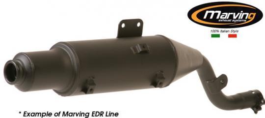 Picture of Marving BMW R80 GS Silencer - EDR Line - Matt Black