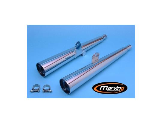Picture of Marving Kawasaki Z 250 Silencers - MARVI Line Conical - Chrome