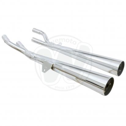 Picture of Marving Suzuki GS 750 Silencers - MARVI Line Conical - Chrome