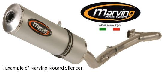 Picture of Marving Honda XL650V Transalp Silencer - MOTARD Oval Line - Titanium