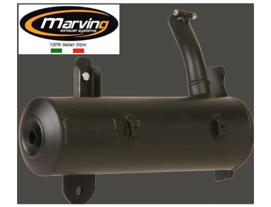 Picture of Marving Honda CN250 Helix Silencer - Original Style - Matt Black