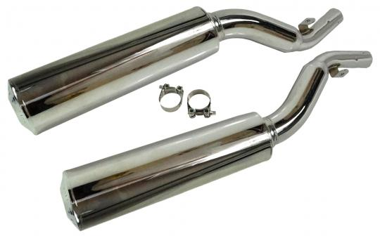 Picture of Marving Yamaha XJ 600 Diversion Silencers - Original Style - Chrome