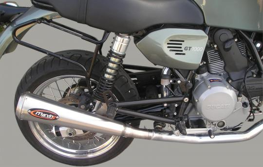 Picture of Marving Ducati GT 1000 Silencers - RACING STEEL - Stainless Steel