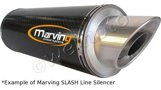 Picture of Marving Kawasaki ER 6 N 09> Silencer - SLASH LINE - Aluminium