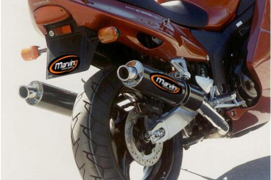 Picture of Marving Honda CB 1000 XX Blackbird Silencers - SUPERLINE Round - Carbon Fibre