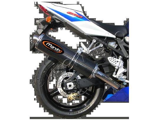Picture of Marving Suzuki GSX-R 600 01-04 Silencer - SUPERLINE Oval - Carbon Fibre