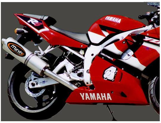 Picture of Marving Yamaha YZF 600 R6 99-02 Silencer - SUPERLINE Oval - Titanium