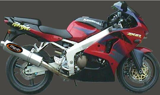 Picture of Marving Kawasaki ZX-6R 98-00 Silencer - SUPERLINE Oval - Aluminium