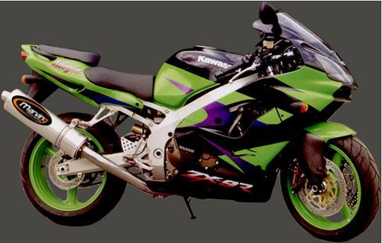 Picture of Marving Kawasaki ZX-7R 96-04 Silencer - SUPERLINE Oval - Aluminium