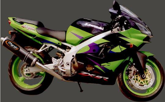 Picture of Marving Kawasaki ZX-7R 96-04 Silencer - SUPERLINE Oval - Carbon Fibre