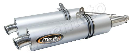 Picture of Yamaha TRX 850 96 Marving SUPERLINE Round Silencers Pair - Aluminium - Not Homologated