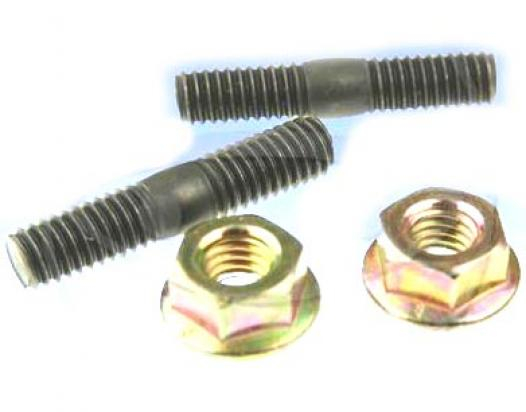 Exhaust Stud Kit - Contains 2x M6 x 30mm Stud and 2x M6 Flange Nut