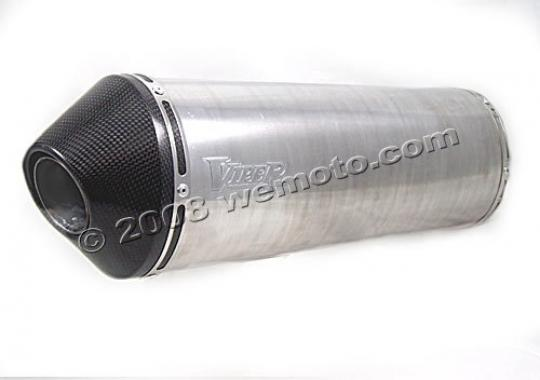 Picture of Viper Slip on Exhaust Can Alloy Stubby With Carbon Fibre End Cap
