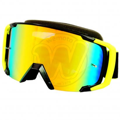 Picture of Goggles S-Line Off Road with Tearoff pins - Fluo Yellow / Black with Iridium Screen