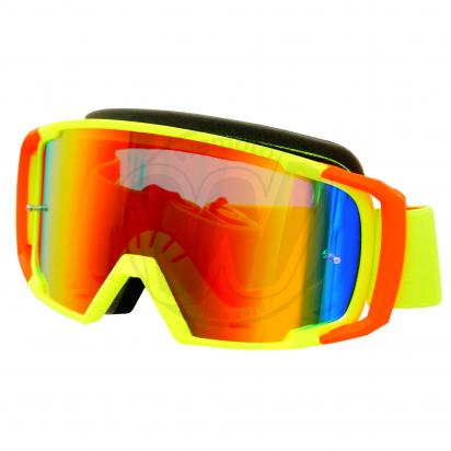 Picture of Goggles S-Line Off Road with Tearoff Pins - Fluo Yellow / Orange with Iridium Screen