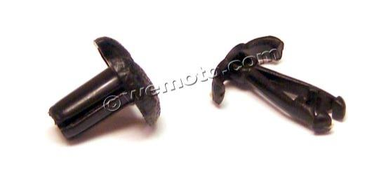 Picture of Fairing Clip 6 mm x 10 mm Black Plastic with taper wells
