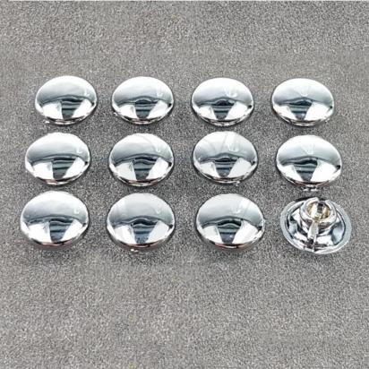 Picture of Chrome Caps / Plugs / Cover For M6 Hex / Allen Bolt - 12 Pieces