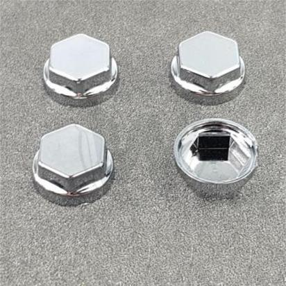 Picture of Chrome Caps / Plugs / Cover For 12mm Spanner Bolts / Allen Bolt - 4 Pieces