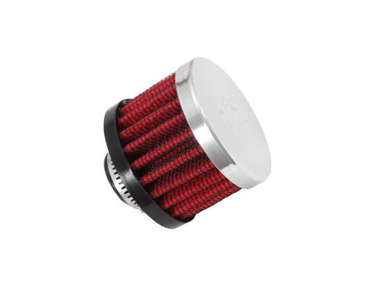 Picture of K&N Filter 62-1330 Crank Vent Breather Air Cleaner 12mm (Clamp-on Type)