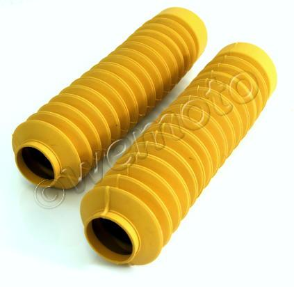 Fork Gaiters 245mm Long 30mm ID Top 60mm ID Bottom - Yellow