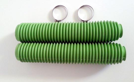 Picture of Fork Gaiters 345mm Long -  40mm ID Top - 60mm ID Bottom Green Extra Large