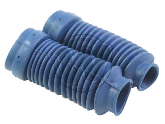Fork Gaiters 215mm Long 32mm And 47mm - Blue - Yamaha DT 125
