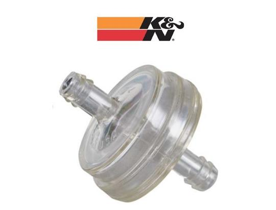 Picture of Fuel Filter Inline K&N Round 6.35mm Inlet and Outlet