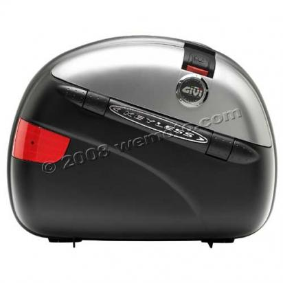 Picture of Givi Pannier Pair Monokey E41N Keyless Black Embossed/Silver Lids