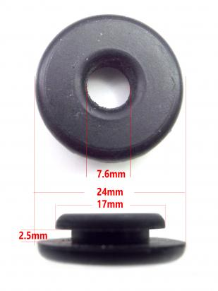 Picture of Honda CRF 70 FD 13 Side Cover / Panel Fastening Grommet Honda 83551-376-000  - 24mm Outer