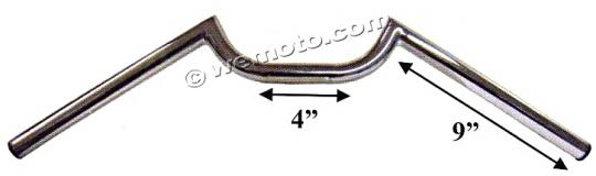 Picture of Handlebar 22mm (7/8 Inch) Chrome Dropbar - 4.00 Inch Centre - 610mm Wide