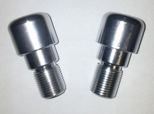 Picture of Motorcycle Handlebar End Weights Yamaha Type - M18 x 1.50 - Silver