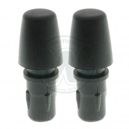 Picture of Handlebar Barend Cap Cover Black Plastic Pair for 22mm (7/8 Inch)  Handlebars