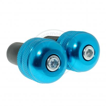 Picture of Motorcycle Universal Handlebar End Weights - knurl Style - 17.5 mm - Blue