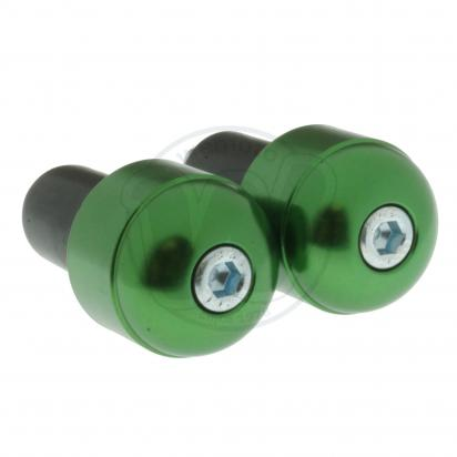 Picture of Motorcycle Universal Handlebar End Weights - Smooth Style - 17.5 mm - Green