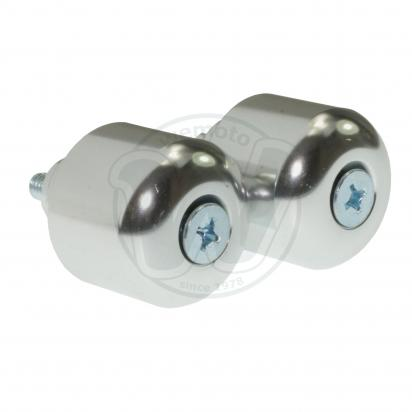 Picture of Motorcycle Handlebar End Weights Honda Type - M6 - Silver
