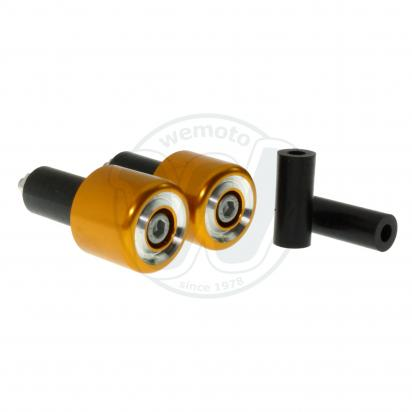 Picture of Motorcycle Universal Handlebar End Weights - Beveled Style - 17.5 mm or 12 mm - Gold