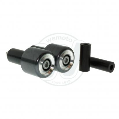 Motorcycle Universal Handlebar End Weights - Beveled Style - 17.5 mm or 12 mm - Gunmetal