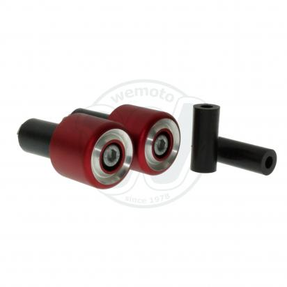 Picture of Motorcycle Universal Handlebar End Weights - Beveled Style - 17.5 mm or 12 mm - Red