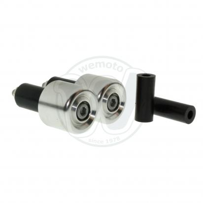 Picture of Motorcycle Universal Handlebar End Weights - Beveled Style - 17.5 mm or 12 mm - Silver