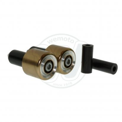 Motorcycle Universal Handlebar End Weights - Beveled Style - 17.5 mm or 12 mm - Titanium